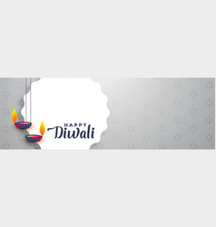beautiful happy diwali banner with text space vector image