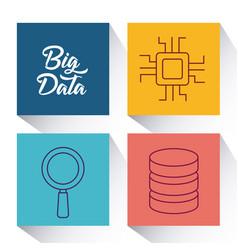 Big data design concept vector