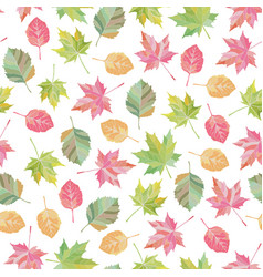 bright fall leaves seamless pattern vector image