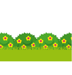 Bushes with beautiful flowers vector