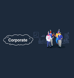 businesspeople office workers team holding vector image
