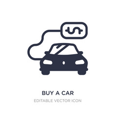 buy a car icon on white background simple element vector image