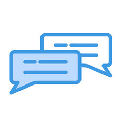 Chat icon in blue style for any projects vector
