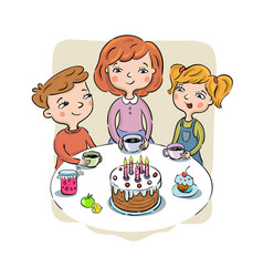 Childrens birthday party vector