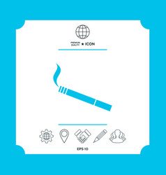 cigarette symbol icon vector image