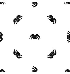 clown hat pattern seamless black vector image vector image