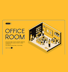 co-working center office isometric website vector image
