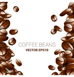 coffee beans background collection with vector image