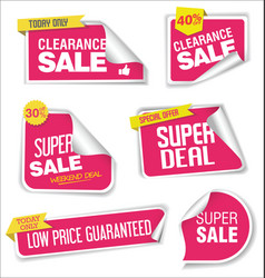 collection of labels stickers and tags flat vector image
