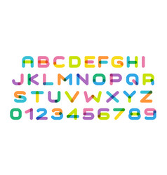colorful letters set bright color cartoon style vector image