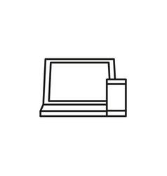 computer smartphone icon vector image