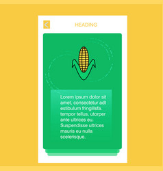 corn mobile vertical banner design design vector image