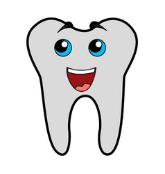Cute tooth cartoon vector