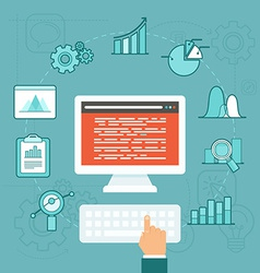 data analytics concept in flat style vector image