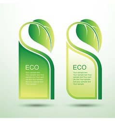 Eco template 5 vector