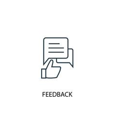 feedback concept line icon simple element vector image