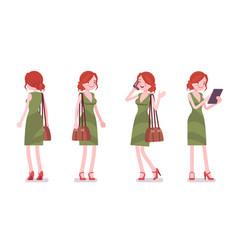 female clerk standing vector image