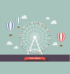 ferris wheel vector image