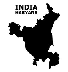 Flat map haryana state with caption vector