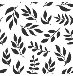 floral seamless pattern with fern different vector image