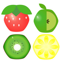Fruit set image vector