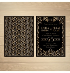 Gatsby Wedding Invitations vector image