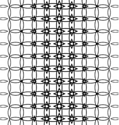 Geometric black and white pattern background vector