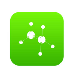 Glycine icon green vector