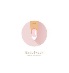 Healthy finger with french manicure vector image