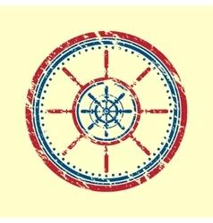 Helm symbol grunge vector image