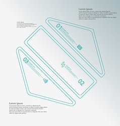 Hexagon infographic template created by three blue vector