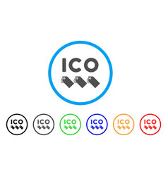 Ico tokens rounded icon vector