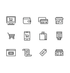 icon set internet and mobile shopping vector image