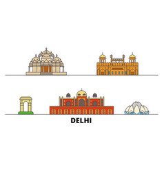 India delhi flat landmarks vector