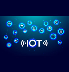 Iot internet thing future technology vector