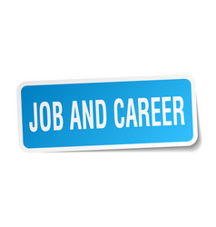 Job and career square sticker on white vector