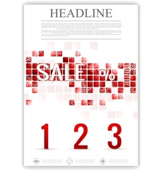 Last winter sale flyer template vector image