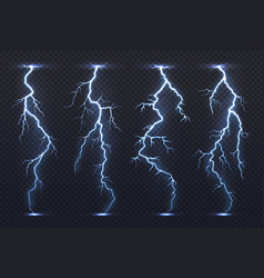 lightning thunder storm electricity blue sky vector image