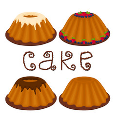 Logo for set whole homemade dessert vector