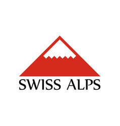 logo of swiss alps vector image