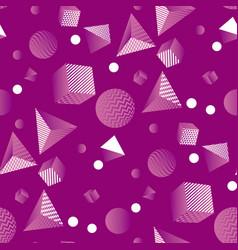 Minimal geometric seamless pattern vintage vibes vector