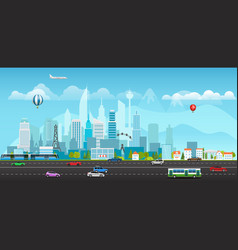 modern city life vector image