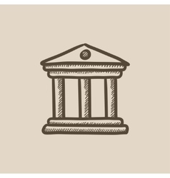 Museum sketch icon vector