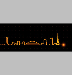 Nagoya light streak skyline vector