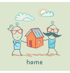 people keep house vector image