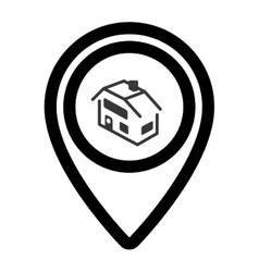 pin real estate isolated icon vector image