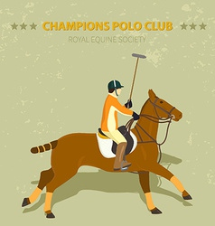 Polo vector image