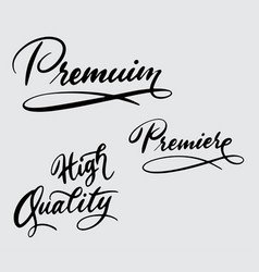 Premium and high quality handwriting calligraphy vector
