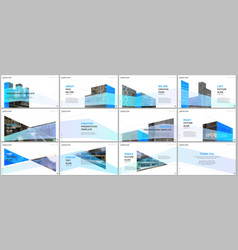Presentations design portfolio templates vector