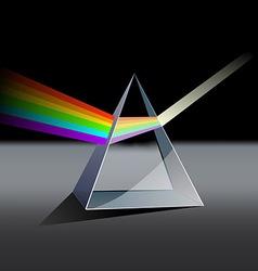 Prism spectrum vector image